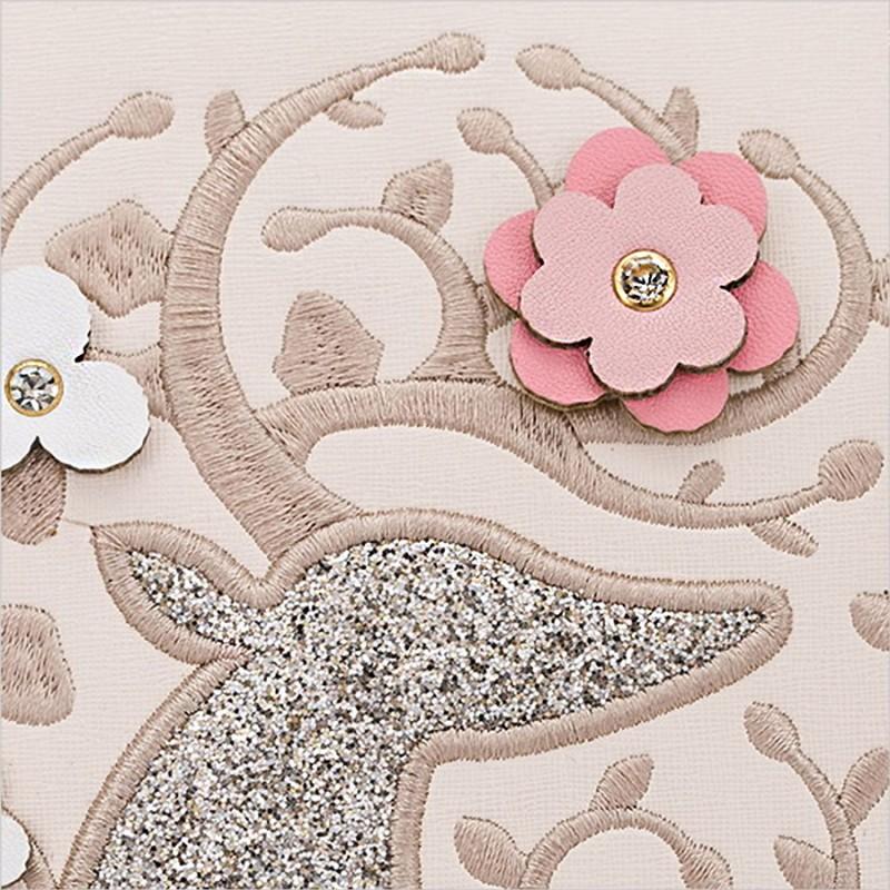 a40c3183c3 Sac à main lolita avec Cerf et Fleurs - Paillettes, strass et dorures