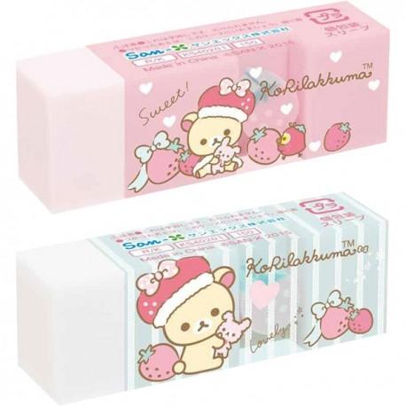 Gommes kawaii KoRilakkuma fraise - Papeterie Rilakkuma San-x Japon