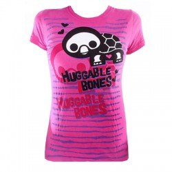 T-shirt femme Rose -Skelanimals, Tortue