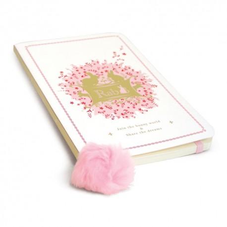 Carnet Rose - Lapin féerique