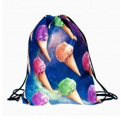 Sac de sport kawaii - Galaxy Ice Creams