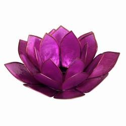 Bougeoir - Lotus en coquillages