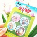 Badges Aralé Dr Slump x4