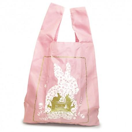 Sac shopping rose - lapins