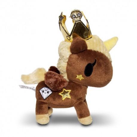 Peluche Licorne Princesse Chocolat