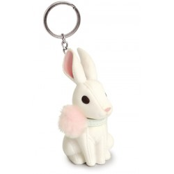 Porte-clés lapin blanc
