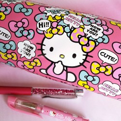 Trousse kawaii - Hello Kitty Petits Noeuds